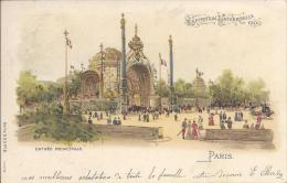 7370- Exposition Universelle 1900 Paris Entrée Principale Litho - Ausstellungen