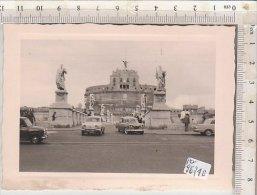 PO9674B# FOTOGRAFIA - ROMA - AUTO RENAULT DAUPHINE - OLD CARS  Anni '50 - Cars