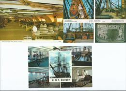 Bateau Navire Amiral De Guerre Trois Mâts Voile -H-M-S VICTORY Lot,ensemble De 3 Cpm-voir Scans R/V De Toutes Les Cartes - Guerre