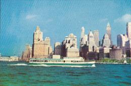 "Tour Boat , New York City , 40-60s ;NYC Skyline ; Circle Line- ""SIGHTSEER VIII"" - Panoramic Views"