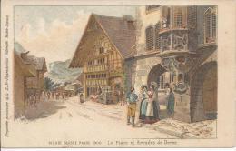 7382 - Village Suisse Paris 1900 La Place Et Arcades De Berne Litho - Ausstellungen