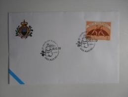 REPUBBLICA DI SAN MARINO FDC - 5 ROCCHE PER LA PACE - Militaria