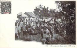 Laos - Groupe De Laotiens à Khong - Laos