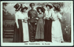 """""""The Territorial.  On Parade"""",  Unused,  C1912.  A Real Photo-postcard. - Humorísticas"""