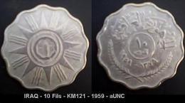 IRAQ - 10 Fils - KM121 - 1959 - AUNC - Iraq