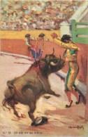 3 CPA : ILLUSTRATEUR RUANO LLOPIS TAUROMACHIE TORERO TOREADOR TAUREAUX - Illustratori & Fotografie