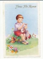 Bonne Fête Maman. Petit Garçon, Pipeau, Chiot. Paillettes. M.D. Paris. 1962 - Fête Des Mères