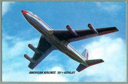 American Airlines Boeing 707 Astrojet Airline Advertising Postcard (AL-37) - 1946-....: Moderne