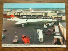 British Airways CONCORDE At Heathrow Airport ( 285 ) Anno 1976 (?) ( Zie Foto Voor Details ) !! - 1946-....: Modern Era