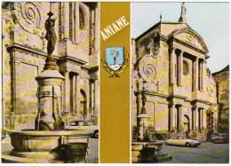 Aniane, La Fontaine, Place De L'église (Citroën Ds) (Combier Impr.) - Aniane
