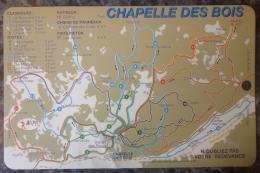 JURA (39) LA CHAPELLE DES BOIS.CARTE ACCES DOMAINE SKI DE FOND. - Tickets - Entradas