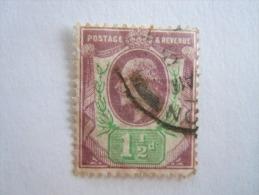 Groot Brittanië Grande-Bretagne Great Britain 1902-10 Edouard Edward VII  Perf.14 Crown Yv 108 O - Oblitérés