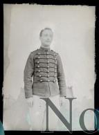 Lyon 1901  Silland Artilleur - Portrait Militaire  7e Régiment D'artillerie Plaque De Verre Photo Photographie - Plaques De Verre