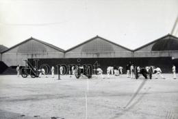 Lyon 1901  Fort Lamothe - Groupe Artilleurs Artillerie  Devant La Caserne - Plaque De Verre Photo Photographie Militaire - Plaques De Verre