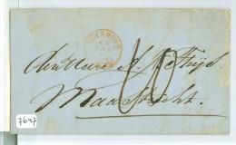 HANDGESCHREVEN BRIEF Uit 1869 * Gelopen Van ROERMOND Naar MAASTRICHT   (7647) - Briefe U. Dokumente