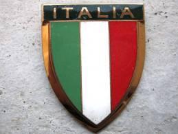 ANCIENNE PLAQUE DE SCOOTER EMAILLEE ANNEE 1950 ITALIE  MODELE 1 EXCELLENT ETAT AUCUNS ECLATS DRAGO PARIS