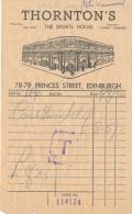 THORNTON'S (1960), The Sport House, 78-79 Princes Street, Edinburgh, Edinbourg, Scotland, Ecosse - Royaume-Uni