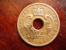 BRITISH EAST AFRICA USED FIVE CENT COIN BRONZE Of 1957 (KN) - British Colony