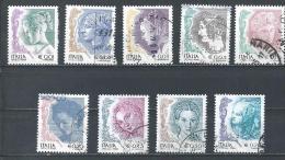 Italy. Scott # 2436a-43a,47,48a,50 Used. Women In Art. 2004 - 6. 1946-.. Repubblica