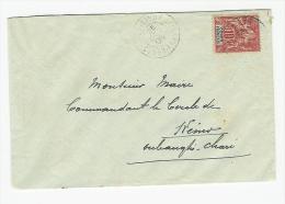 LETTRE DE FORT SIBUT CONGO FRANCAIS POUR KENO TRES RARE SANS TRANSIT AU VERSO - Congo Français (1891-1960)