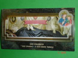S.VALERICO Abate - Corpo Reliquie Santuario CONSOLATA - TORINO Compatrono Città  12 Dicembre (ISSOIRE Auvergne S.VALERY - Santini