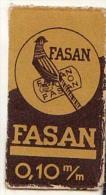 RAZOR BLADE RASIERKLINGE FASAN 0.10 M/m Nicht Ohne Rasierer Gefüllt - Rasierklingen