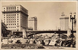 SAO PAULO (Brasilien), Viaduto Do Cha, Belebte Strasse, Alte Autos - Original Fotokarte, Karte Gelaufen 1949 ... - São Paulo