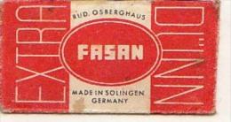 RAZOR BLADE RASIERKLINGE FASAN MADE IN SOLINGER GERMANY  Nicht Ohne Rasierer Gefüllt - Rasierklingen