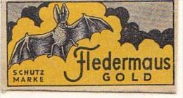RAZOR BLADE RASIERKLINGE FLEDERMAUS GOLD SCHUTZ MARKS BAT Fledermaus Nicht Ohne Rasierer Gefüllt - Razor Blades