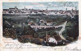 Litho Gruss Aus ROTHENBURG (Baden-Württemberg) - Verlag Franz Hummel Augsburg, Karte Gelaufen 1901 V. Rothenburg ... - São Paulo
