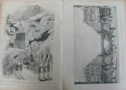 N°1476MONDE 1885:AMBASSADE MAROCAINE A PARIS HIPPODROME LONGCHAMPS/ARRIVEE STATUE LIBERTE A NEW-YORK/METRO - Newspapers