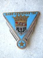 RARE ANCIEN INSIGNE ARMEE DE L'AIR LA BA 121 NANCY ESSEY EMAILLE DRAGO OLIVIER METRA DEPOSE