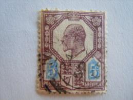 Groot Brittanië Grande-Bretagne Great Britain 1902-10 Edouard Edward VII  Perf.14 Crown Yv 113 O - 1902-1951 (Re)