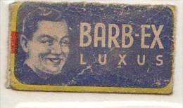 RAZOR BLADE RASIERKLINGE BARB-EX LUXUS  Nicht Ohne Rasierer Gefüllt - Rasierklingen