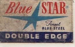 RAZOR BLADE RASIERKLINGE BLUE STAR DOUBLE  FINEST BLUE STEEL    Nicht Ohne Rasierer Gefüllt - Rasierklingen