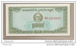 Cambogia - Banconota Non Circolata FdS Da 0,10 Rials P-25a - 1979 - Cambodja