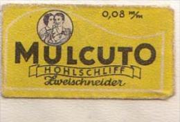 RAZOR BLADE RASIERKLINGE MULCUTO 0,08 Mm ZWEISCHNEIDER , Nicht Ohne Rasierer Gefüllt - Rasierklingen