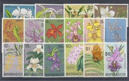 130504198  BARBADOS  YVERT  Nº  373/388  **  MNH - Barbados (1966-...)