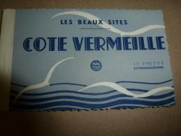 Carnet De 10 PHOTOS VERITABLES  De LA CÔTE VERMEILLE  édition MAR à Nice - Frankreich