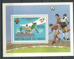 "Niger Bloc YT 40 "" Résultats Espana 82 "" 1982 Neuf** - Niger (1960-...)"