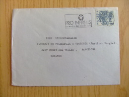 SUIZA SUISSE  CARTA CIRCULADA EL  24 - 3 - 1983   DE SION - BARCELONA    Yvert Nº 1040 - Handicaps
