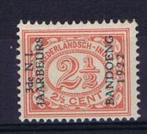 "Dutch East Indies, Nederlands Indie, 1922 2,5 Ct Met Opdruk ""3de N.I. JAARBEURS BANDOENG 1922"" NVPH 151 MH/*"