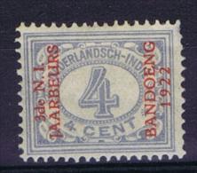 "Dutch East Indies, Nederlands Indie, 1922 4 Ct Met Opdruk ""3de N.I. JAARBEURS BANDOENG 1922"" NVPH 153 MH/*"