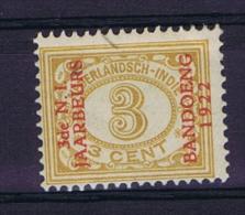 "Dutch East Indies, Nederlands Indie, 1922 3 Ct Met Opdruk ""3de N.I. JAARBEURS BANDOENG 1922"" NVPH 152 MH/*"