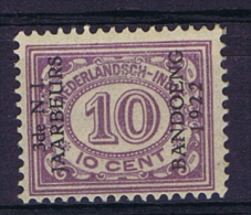 "Dutch East Indies, Nederlands Indie, 1922 10 Ct Met Opdruk ""3de N.I. JAARBEURS BANDOENG 1922"" NVPH 156 MNH/** - Indes Néerlandaises"