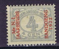 "Dutch East Indies, Nederlands Indie, 4 Ct Met Opdruk ""3de N.I. JAARBEURS BANDOENG 1922"" NVPH 153. MH/*"