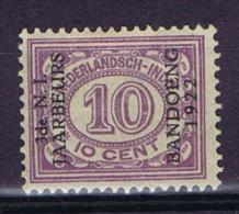 "Dutch East Indies, Nederlands Indie, 10 Ct Met Opdruk ""3de N.I. JAARBEURS BANDOENG 1922"" NVPH 156. MH/*"