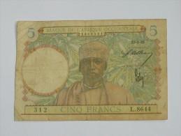 5 Francs 1942 - Banque De L´Afrique Occidentale **** EN ACHAT IMMEDIAT **** - Andere