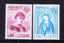 MONACO  1975     Europa  CEPT  ,  Y&T   #   1003/4 ,      Cv   5.00  E  , **   M N H , V V F - Europa-CEPT