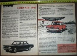 PUB PUBLICITE AUTO CORVAIR COUPE MONZA 1961 PAR MITTEI - Vieux Papiers